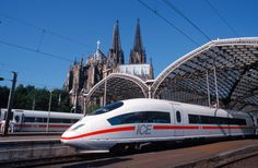 Cologne's main train station with the Cologne Cathedral in the background. Walking Holiday, By Train, Throughout The World, Train Station, Cologne, Germany, Europe, France, City