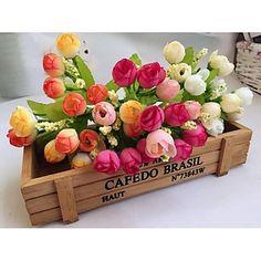 Poliészter Rózsák Művirágok 4617647 2016 – £2.37