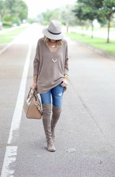 OVERSIZED SWEATER AND OVER THE KNEE BOOTS: A Spoonful of Style waysify