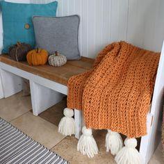Crochet Chunky Blanket - Free Pattern - MJ's off the Hook Designs Chunky Crochet Blanket Pattern Free, Chunky Blanket, Easy Crochet, Free Crochet, Crochet Patterns, Crochet Blankets, Crochet Afgans, Half Double Crochet, Yarn Crafts