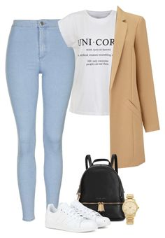 """Untitled #568"" by alliicampos ❤ liked on Polyvore featuring Topshop, Ally Fashion, Miss Selfridge, Michael Kors and adidas"