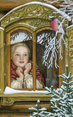 "Vintage Winter - Lyudmila Romanova   Also see N. Kelly's  ""Christmas Images"" board."