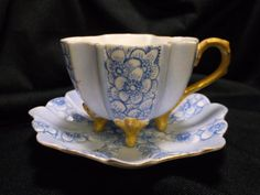 Vintage T & V France miniture Footed Tea Cup by catherinemoore2003, $39.00