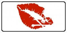 x Silhouette Hot Lip Kiss Sticker Custom Wall Window Voiture Adhesif Silhouette Cameo, Silhouette Portrait, Silhouette Projects, Panzer Tattoo, Hot Lip Kiss, Petit Tattoo, Herz Tattoo, Bild Tattoos, Geniale Tattoos