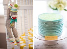Yellow, Teal & Grey Gender Neutral Baby Shower