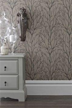 Buy Twiggs Mink Wallpaper from the Next UK online shop