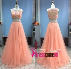 Real Made Beading Prom Dresses,A-Line Floor-Length Evening Dresses, Two pieces charming Prom Dresses,Evening Dresses, Charming Prom Dresses,