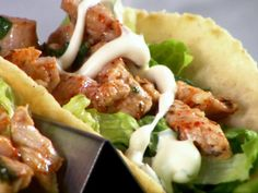 Fish Tacos recipe from Diners, Drive-Ins and Dives via Food Network