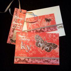 Kathryn's card - Happy 11th #mycrafts #loveinthefellowship #TheresaLamb ©Theresa Lamb 2014