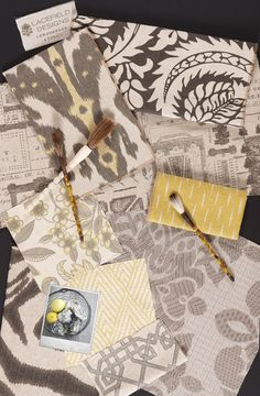 Lacefield Designs Lemongrass #textile #moodboard www.lacefielddesigns.com…