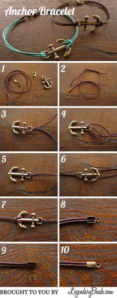 nice Legendary Beads  » Tutorial: Anchor Bracelet