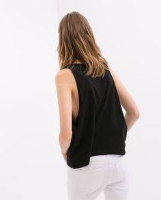 TANK TOP WITH OPEN ARM HOLES from Zara