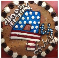 Alternative Fourth of July cake with words and the Stars and Stripes #greatamericancookie
