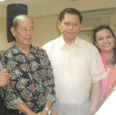 With Deans Alfredo Buenaventura (CEU Mla Conservatory of Music and UST College of Music Dean Raul Sunico.
