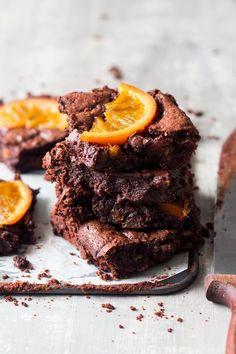Gooey chocolate orange brownies - Lazy Cat Kitchen