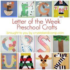 Letter of the Week Crafts for Preschoolers    LuvaBargain.com