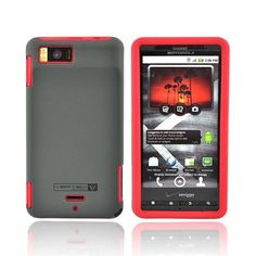 RED BLACK Naztech Silicone Case for Motorola Droid X by KarenDeals. $7.95. Elegant form-fitting design.  Two layers for maximum protection.  Protects from scratches and minor shock.  Remains thin for pocket or purse.  Includes screen protector and cleaning cloth.  Access to all your phones features: 2-Piece Hard and Soft Shell Combo.