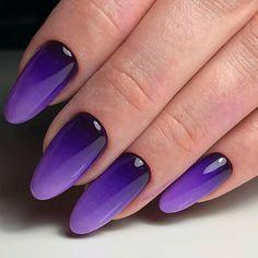 Nail Art Violet, Purple Nail Art, Diy Nails, Cute Nails, Pretty Nails, Gel Nail Art, Acrylic Nails, Nail Art Designs, Gel Nails French