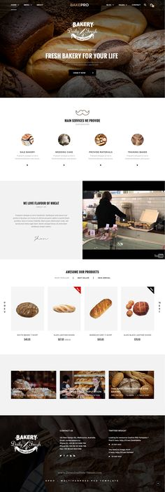 Epro is responsive unique eCommerce Bootstrap template for online shop with clean and modern design. It comes with 10 stunning homepage layouts. Demo #bakery #website