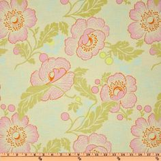 LOVE this Amy Butler Midwest Modern II Fresh Poppies Ivory - Discount Designer Fabric - Fabric.com For Bubble Dress #2