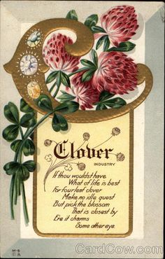 The Clover Flower Symbolized Industry Flowers Alphabet Letters