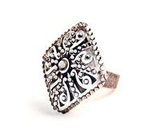 Ring - Messing - Antik-Look - verstellbar.