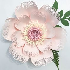 Lace Petal no. 5-a Paper Flower Template Made by The Crafty Sagittarius