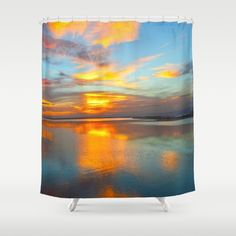 sunset Shower Curtain by aticnomar Button Hole, Wash N Dry, Curtain Rods, Shower Curtains, Hooks, Around The Worlds, Artists, Sunset, Usa