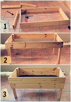 30 Easy Diy Wooden Raised Planter for a simple garden you design yourself… - G. - 30 Easy Diy Wooden Raised Planter for a simple garden you design yourself… – Garden Easy Source by verdiestutess - Elevated Garden Beds, Raised Garden Bed Plans, Raised Beds, Raised Patio, Wooden Raised Garden Bed, Raised Planter Boxes, Diy Planter Box, Wood Pallet Planters, Planter Table