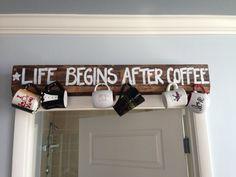Pallet Coffee Mug Holder by BelovedlyYours on Etsy, $40.00