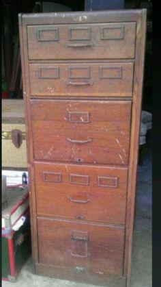 Vintage Shaw Walker File Cabinet at 1stdibs $3100 bar maybe ...