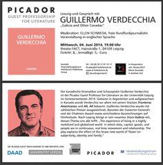 Lesung mit dem aktuellen Picador Gastprofessor Guillermo Verdecchia in Leipzig!