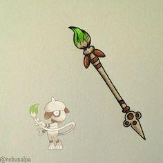 Smeargul: Paintbrush rod