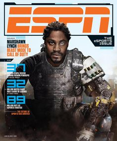 """Beastmode gets featured in the latest issue of ESPN The Magazine.  """"I'm just here so I get to be on the cover."""""""