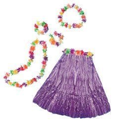 Aloha Set Adult Purple!  Prefect #outfit for your beech party or for luau.  #clothes #beechparty #dress  Price: $8.00  Order at: