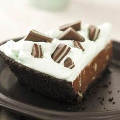 Grasshopper Pie Recipe from Taste of Home -- shared by Melissa Sokasits of Warrenville, Illinois