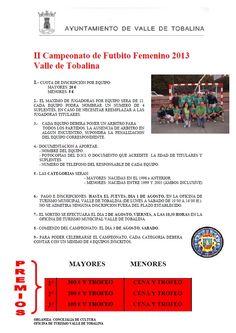 II Campeonato de Futbito FEmenino 2013 Valle de Tobalina #Merindades Inscripción hasta el 1 de Agosto