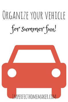 organizing your vehicle for summer