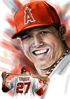 Mike Trout by adshardcore
