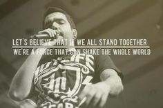 We're a force that can shake the whole world!