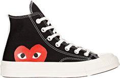 Shop Now - >  https://api.shopstyle.com/action/apiVisitRetailer?id=486867815&pid=2254&pid=uid6996-25233114-59 Comme des Garçons PLAY Women's Women's Chuck Taylor 1970s High-Top Sneakers  ...