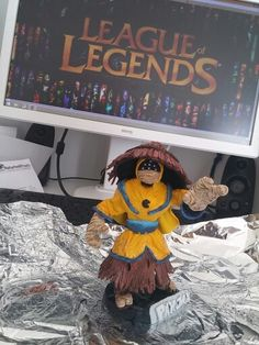 League of Legends Character Pax Jax #leagueoflegends #lol #figure #selfmade #sculptingfaces #sculpey #clay