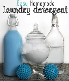 Black and White Obsession: Easy Three Ingredient Homemade Laundry Detergent No grating required.