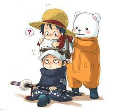 Luffy y Law-chibi ~ One Piece