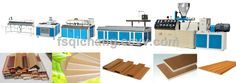 wpc plastic wood profiles for decorating indoors extruder (SJ-51/65/80/92) - China wpc extrusion machine, QICHANG