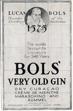 Lucas Bols' Very Old Gin Ad, 1922 by DominusVobiscum, via Flickr