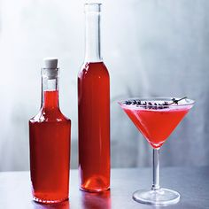 Redcurrant and lavender cordial