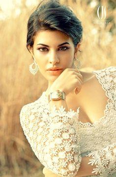 @Asli_Jacqueline Fernandez #Exquisite #Lace #Blouse by @ShehlaaK http://www.perniaspopupshop.com/designers-1/shehla-khan