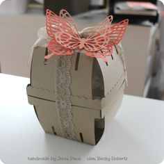 Stampin Up! Two beautiful Berry Basket Diecuts used as packaging.