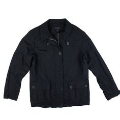 "LANDS' END Navy Blue Nylon Utility Jacket Mint condition. This navy blue lightweight spring nylon jacket from Lands End features button closures and front pockets. Lined in a light weight mesh lining. measures: Bust: 40"", Total Length: 26"", Sleeves: 24"" Lands' End Jackets & Coats Utility Jackets"